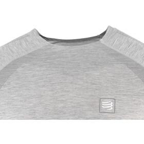 Compressport Maglietta da allenamento a maniche lunghe, grey melange